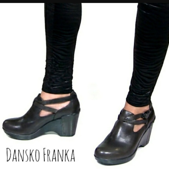 9843c115c3 Dansko Shoes | Franka Wedge Black Sz 39 Fits 859 | Poshmark